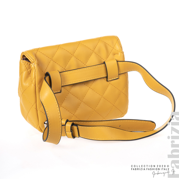 Дамска чанта за носене на кръста жълт 2 fabrizia