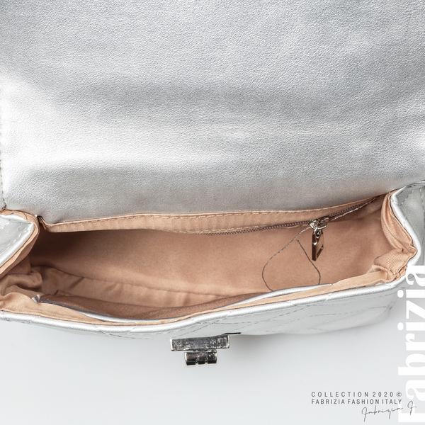 Дамска чанта за носене на кръста сребрист 4 fabrizia