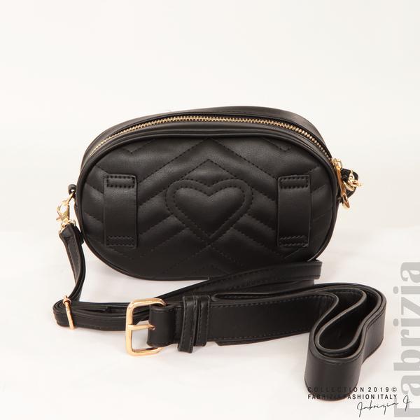 Малка дамска чанта 2 в 1 черен 10 fabrizia