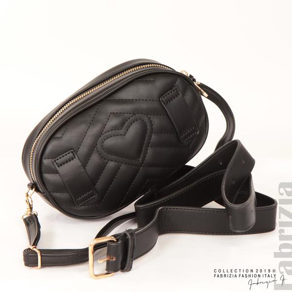 Малка дамска чанта 2 в 1 черен 8 fabrizia