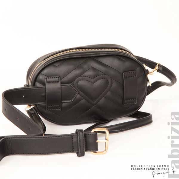 Малка дамска чанта 2 в 1 черен 7 fabrizia