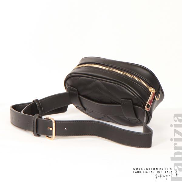 Малка дамска чанта 2 в 1 черен 5 fabrizia