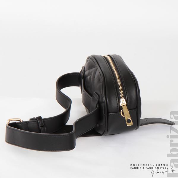 Малка дамска чанта 2 в 1 черен 4 fabrizia
