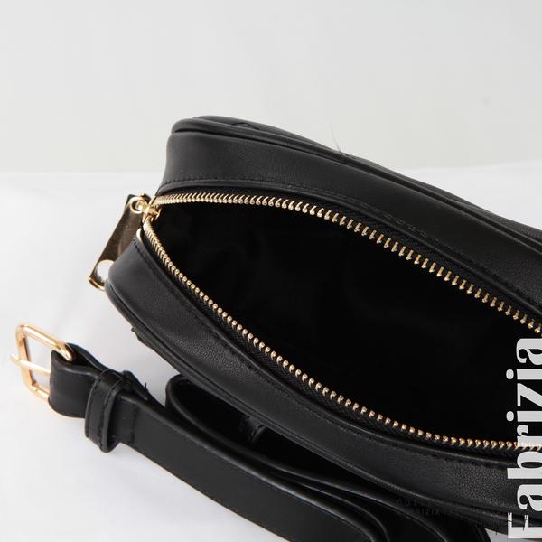 Малка дамска чанта 2 в 1 черен 11 fabrizia