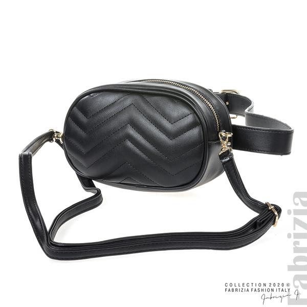 Малка дамска чанта 2 в 1 черен 1 fabrizia