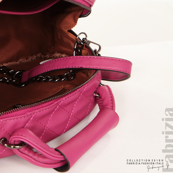 Компактна дамска чанта циклама 6 fabrizia