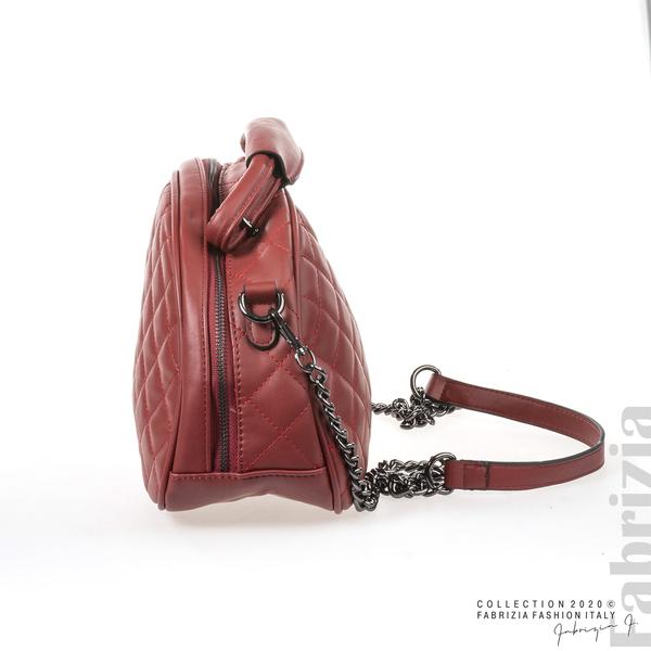 Компактна дамска чанта червен 3 fabrizia