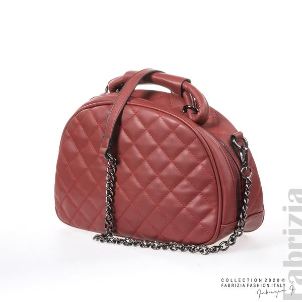 Компактна дамска чанта червен 2 fabrizia