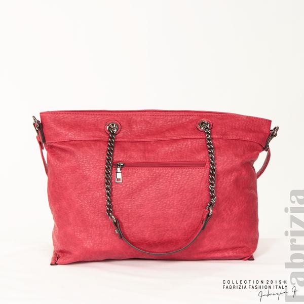 Дамска чанта с ромбове червен 4 fabrizia