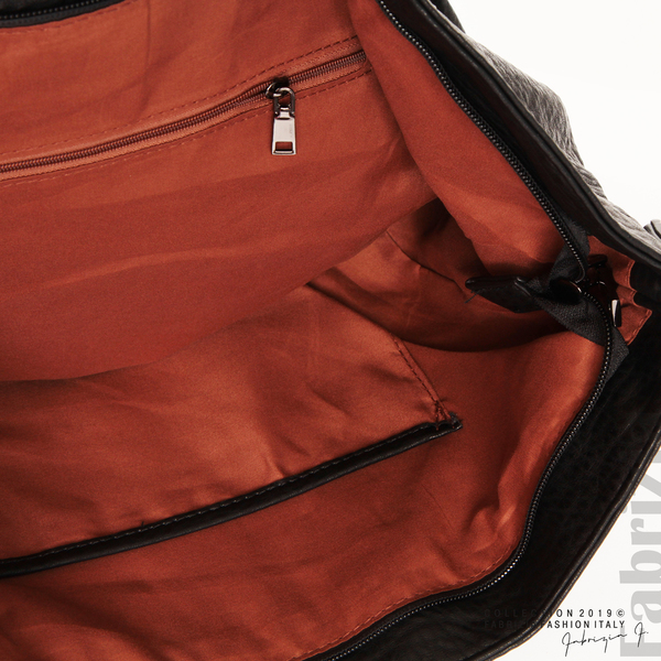Дамска чанта с ромбове черен 7 fabrizia