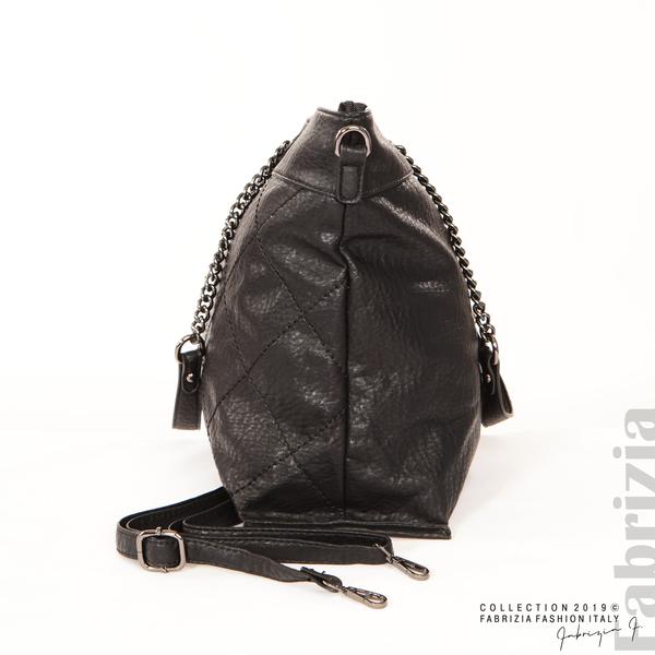 Дамска чанта с ромбове черен 4 fabrizia