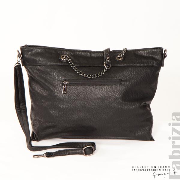 Дамска чанта с ромбове черен 6 fabrizia