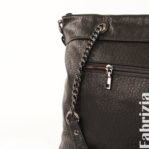 Дамска чанта с ромбове черен 5 fabrizia