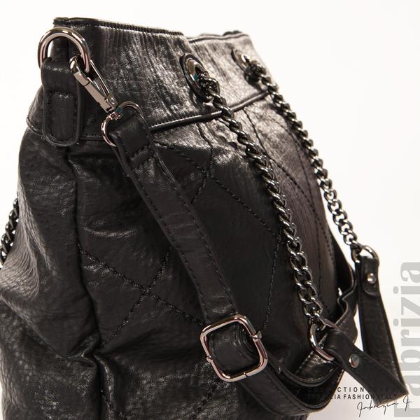 Дамска чанта с ромбове черен 3 fabrizia