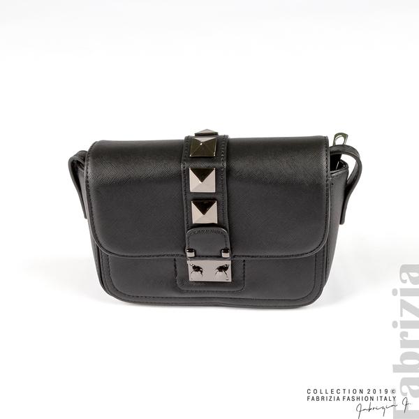 Малка чанта с магнитно закопчаване черен 5 fabrizia
