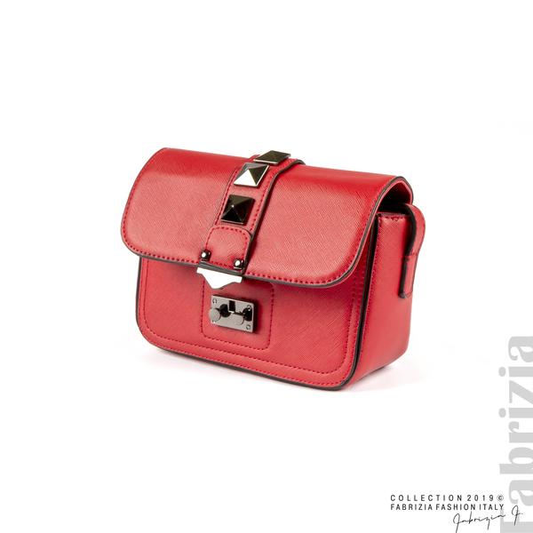 Малка чанта с магнитно закопчаване червен 1 fabrizia
