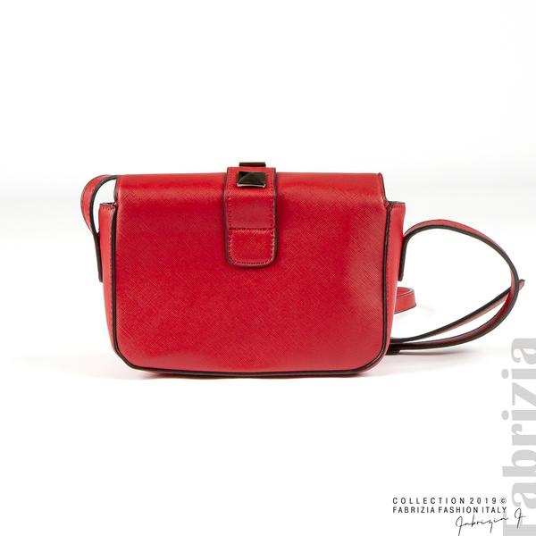 Малка чанта с магнитно закопчаване червен 3 fabrizia