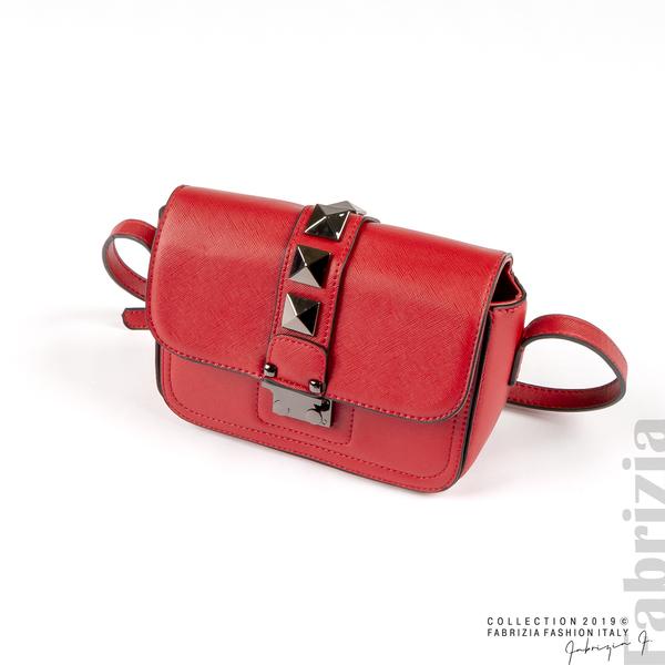 Малка чанта с магнитно закопчаване червен 5 fabrizia