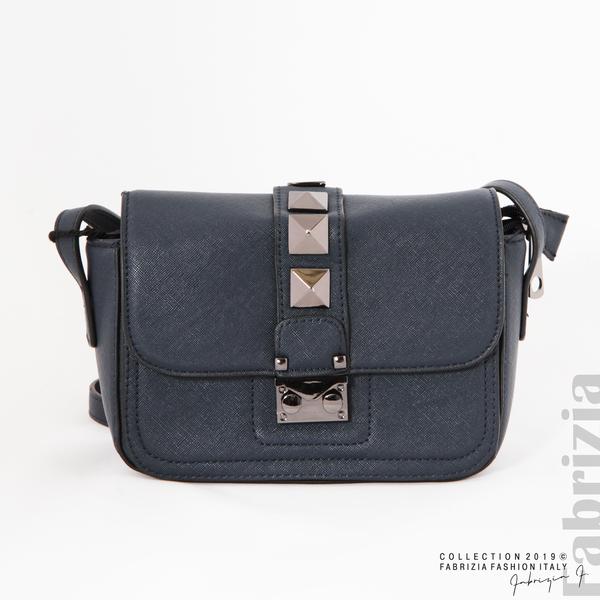 Малка чанта с магнитно закопчаване син 5 fabrizia