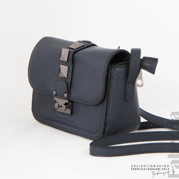 Малка чанта с магнитно закопчаване син 4 fabrizia