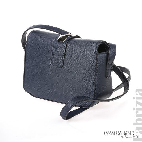 Малка чанта с магнитно закопчаване син 2 fabrizia