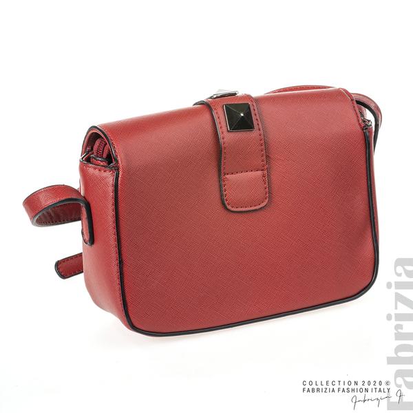 Малка чанта с магнитно закопчаване червен 2 fabrizia