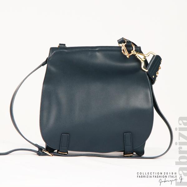 Дамска чанта с капси на дръжката син 1  fabrizia
