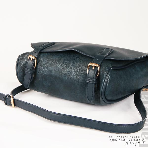 Дамска чанта с капси на дръжката син 5  fabrizia