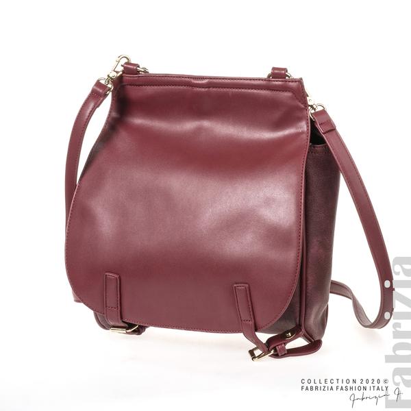 Дамска чанта с капси на дръжката пепел от червен 1 fabrizia