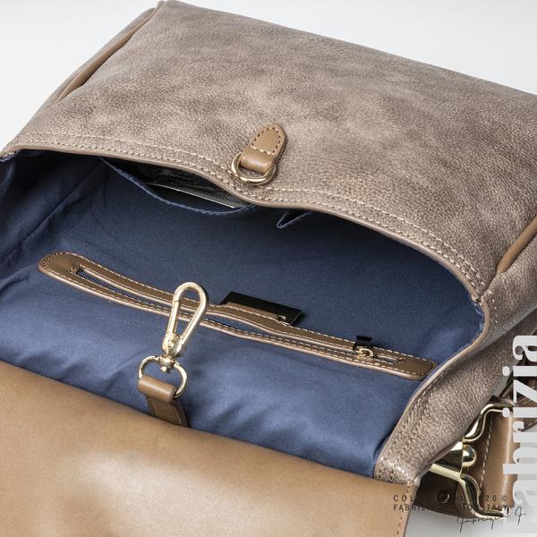 Дамска чанта с капси на дръжката пепел от мляко с какао 4 fabrizia