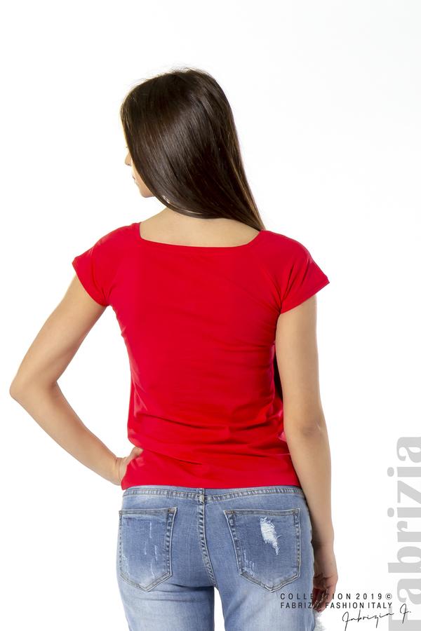 Дамска блуза с бродерия червен 2 fabrizia