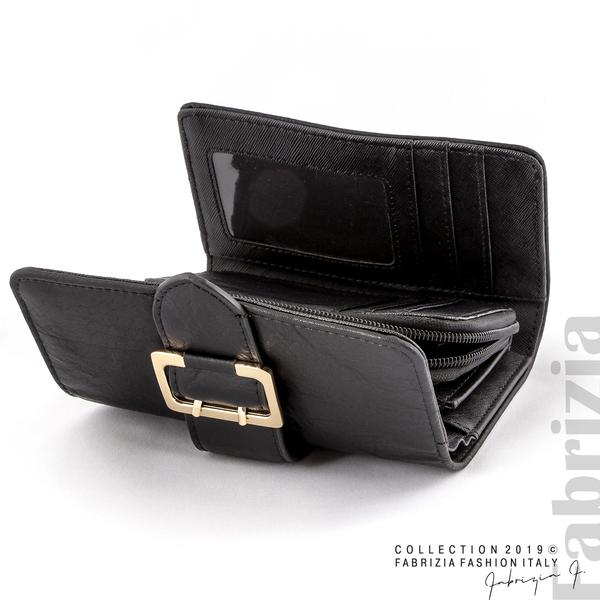 Дамско портмоне с катарама черен 2 fabrizia