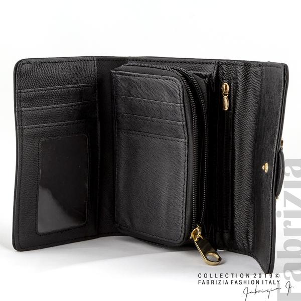 Дамско портмоне с катарама черен 3 fabrizia