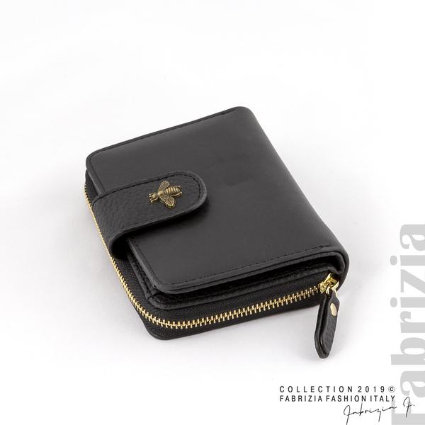 Дамско портмоне с пчеличка черен 1 fabrizia