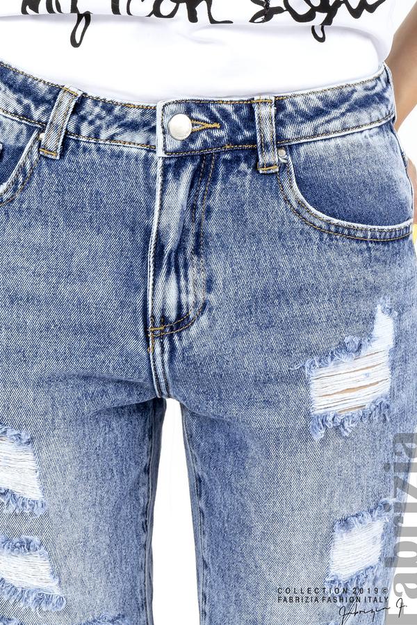 Дамски дънки с прорези на коленете 4 fabrizia