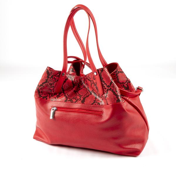 Дамска чанта с животински принт червен 2 fabrizia