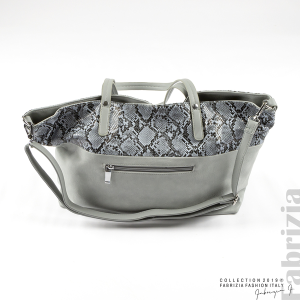 Дамска чанта с животински принт бл.син 2 fabrizia