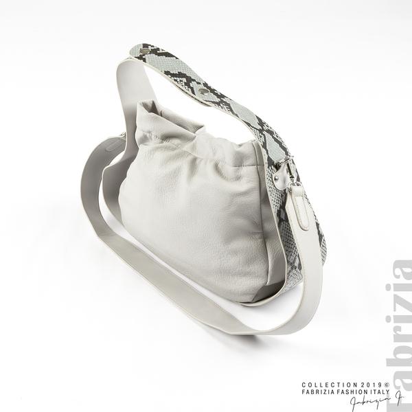 Чанта с животински принт на дръжката сив 1 fabrizia