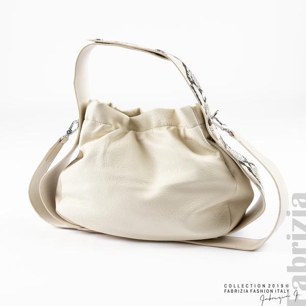 Чанта с животински принт на дръжката мляко с какао 1 fabrizia