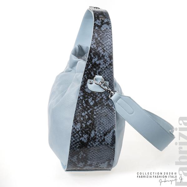 Чанта с животински принт на дръжката св.син 2 fabrizia