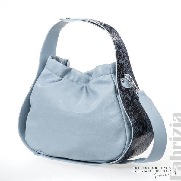Чанта с животински принт на дръжката св.син 3 fabrizia