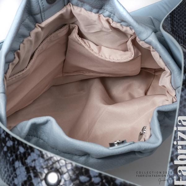 Чанта с животински принт на дръжката св.син 4 fabrizia