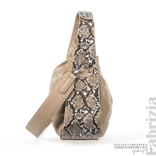 Чанта с животински принт на дръжката мляко с какао 2 fabrizia