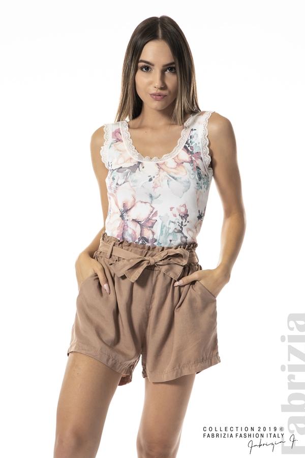 панталон с връзка-св.кафяв-1