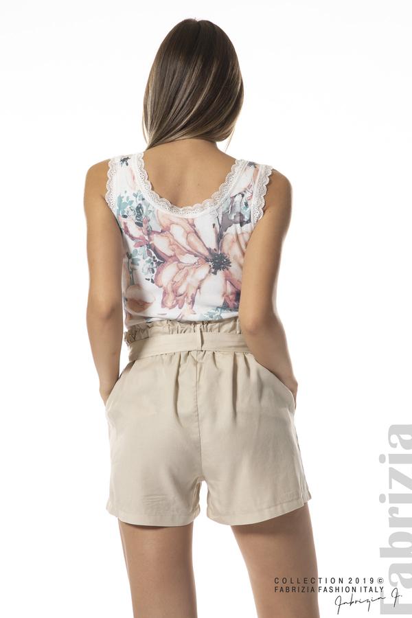 панталон с връзка-бежов-4