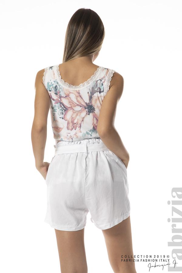 панталон с връзка-бял-3