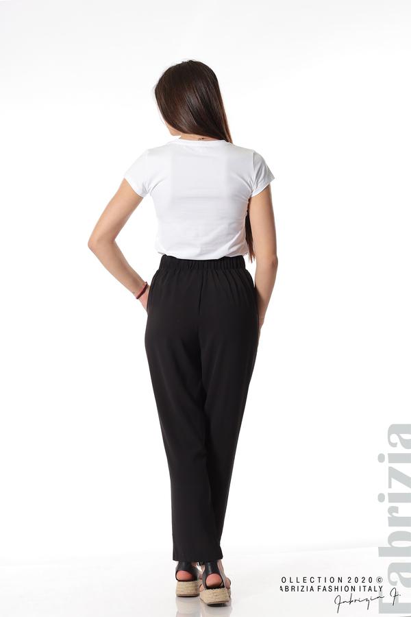 Свободен панталон с колан черен 8 fabrizia