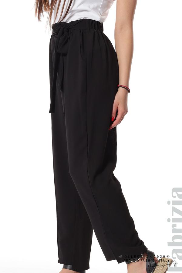 Свободен панталон с колан черен 3 fabrizia