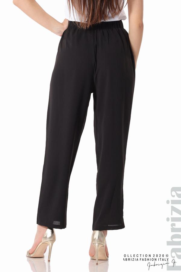 Свободен панталон с колан черен 9 fabrizia