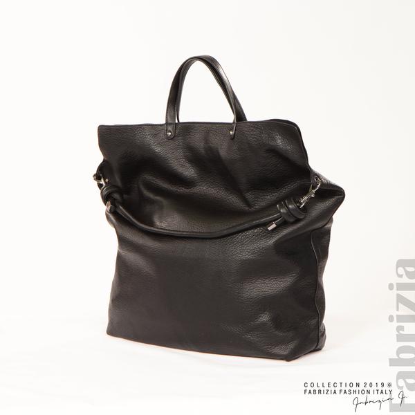 Голяма дамска чанта черен 8 fabrizia